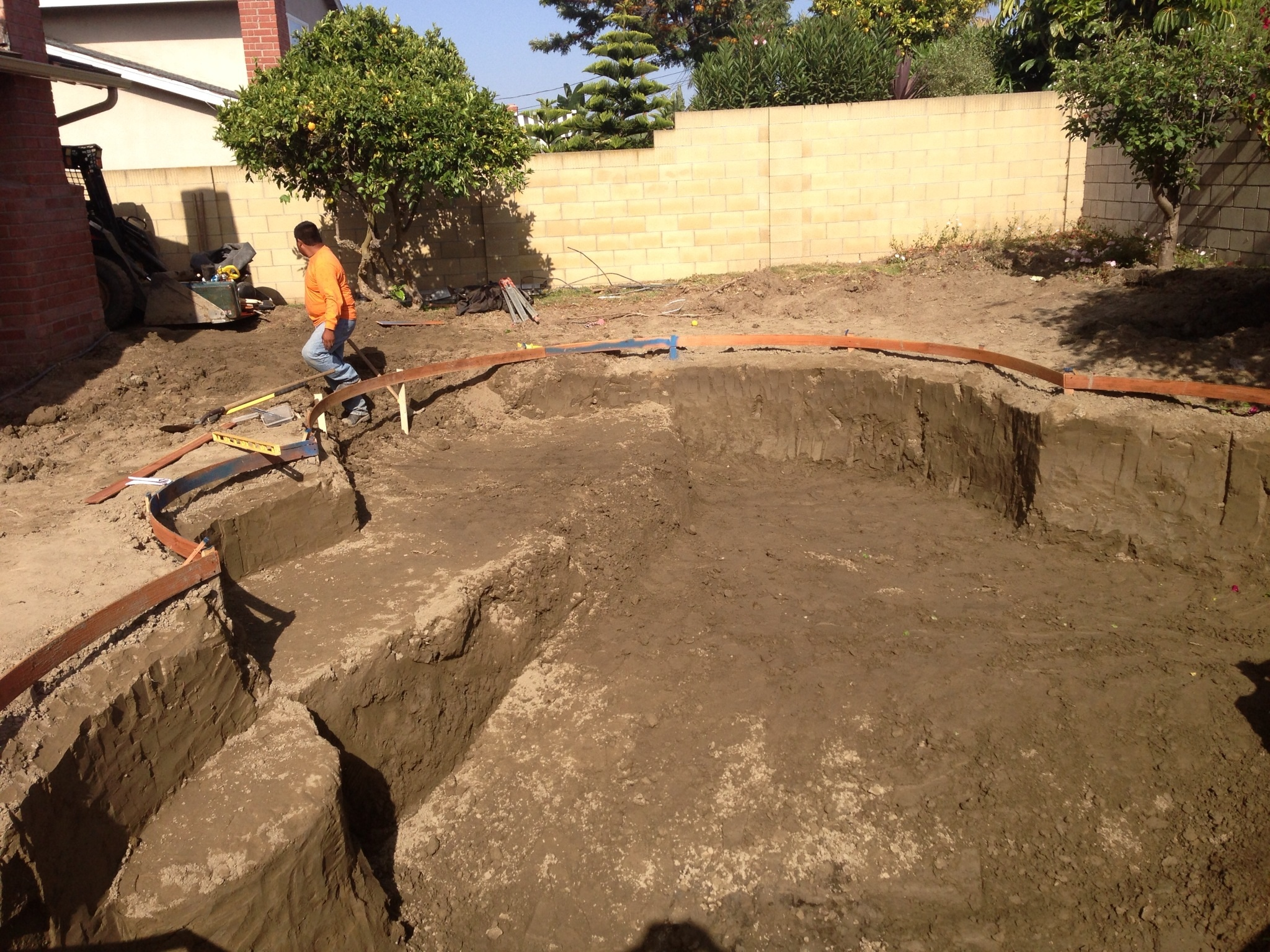 Swimming Pool Excavating : Socal pool construction swimming excavation